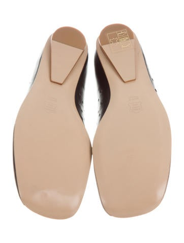 Robert Clergerie Square-Toe Leather Flats w/ Tags clearance find great MyLd24l4