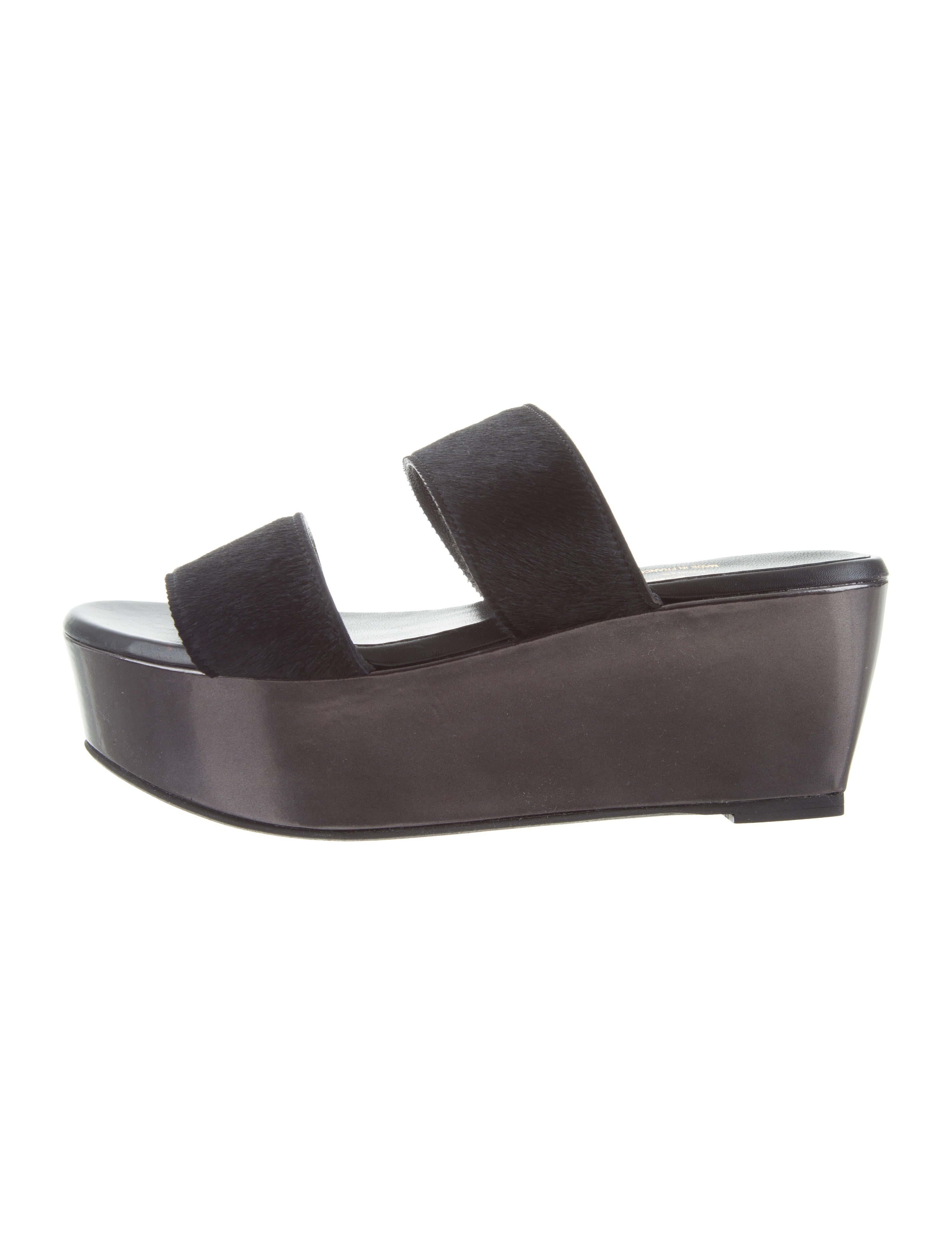 discount latest collections Robert Clergerie Ponyhair Slide Sandals websites online sale for cheap cheap price store supply cheap price wGkhe5PE
