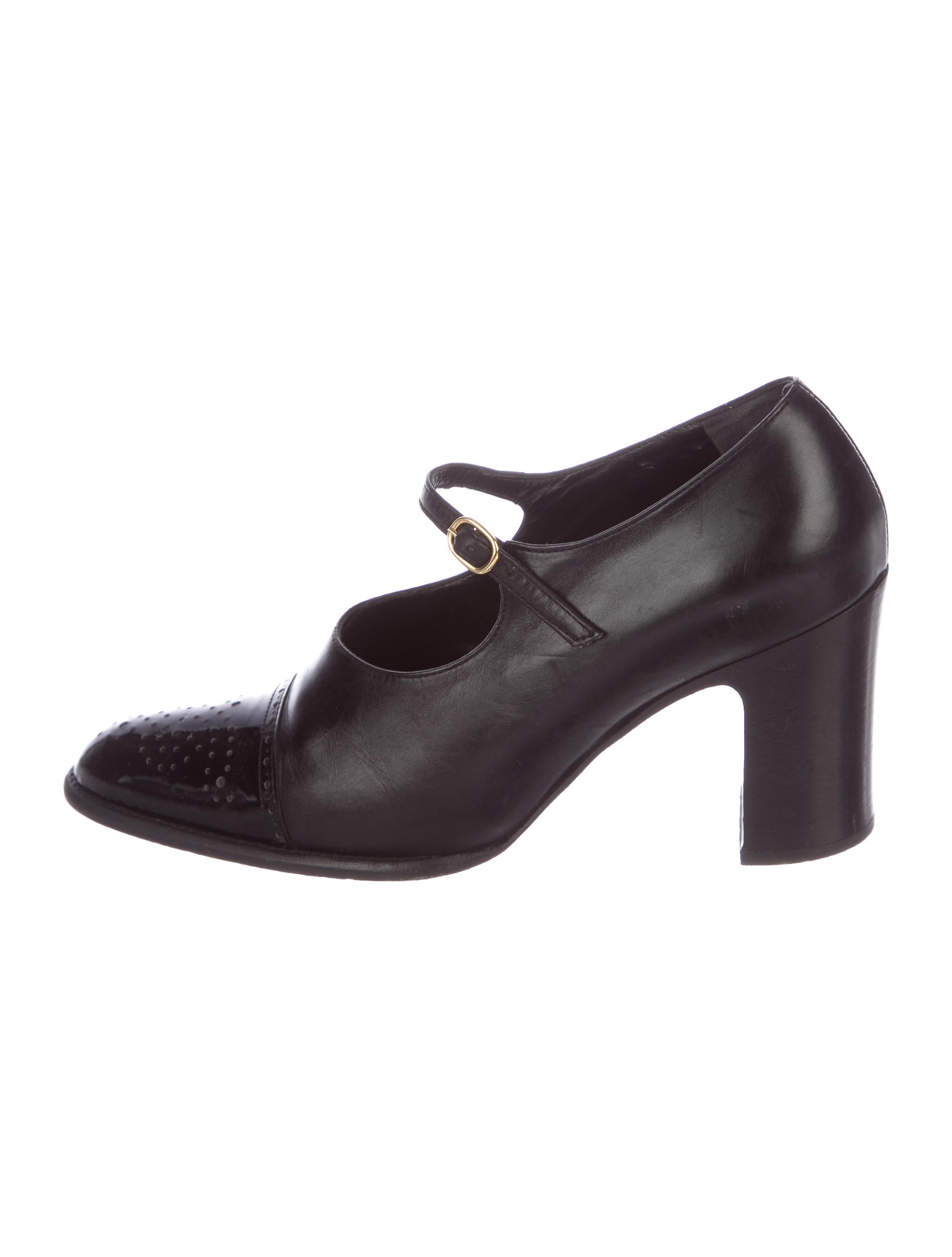footlocker pictures cheap online free shipping visa payment Robert Clergerie Leather Mary Jane Pumps cheap sale wholesale price 14EcUsOid