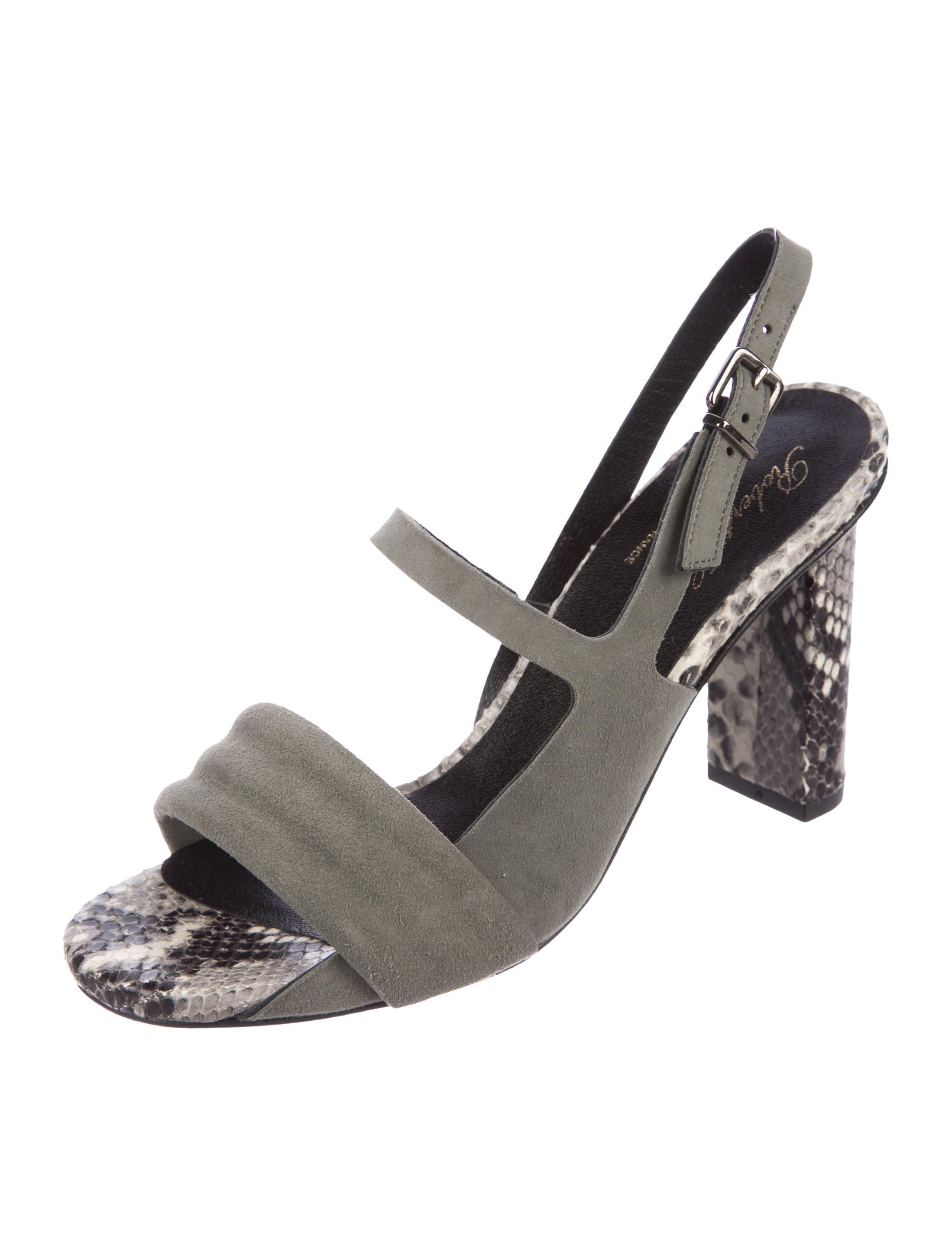 Robert Clergerie Clergerie Paris Leila Snakeskin-Accented Sandals official site uLkGmt