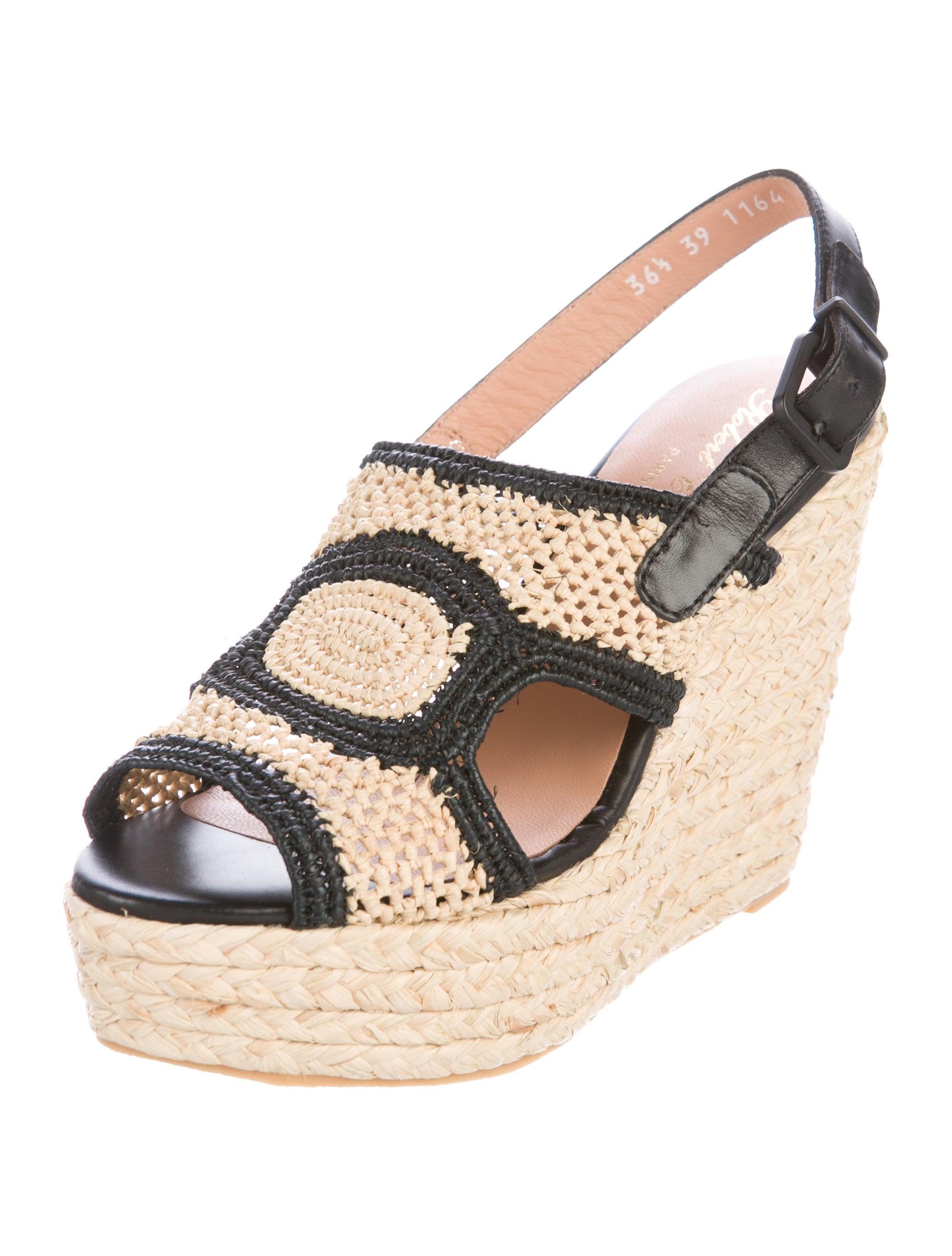 Robert Clergerie Drastic Raffia Sandals w/ Tags sale choice 1wJjh
