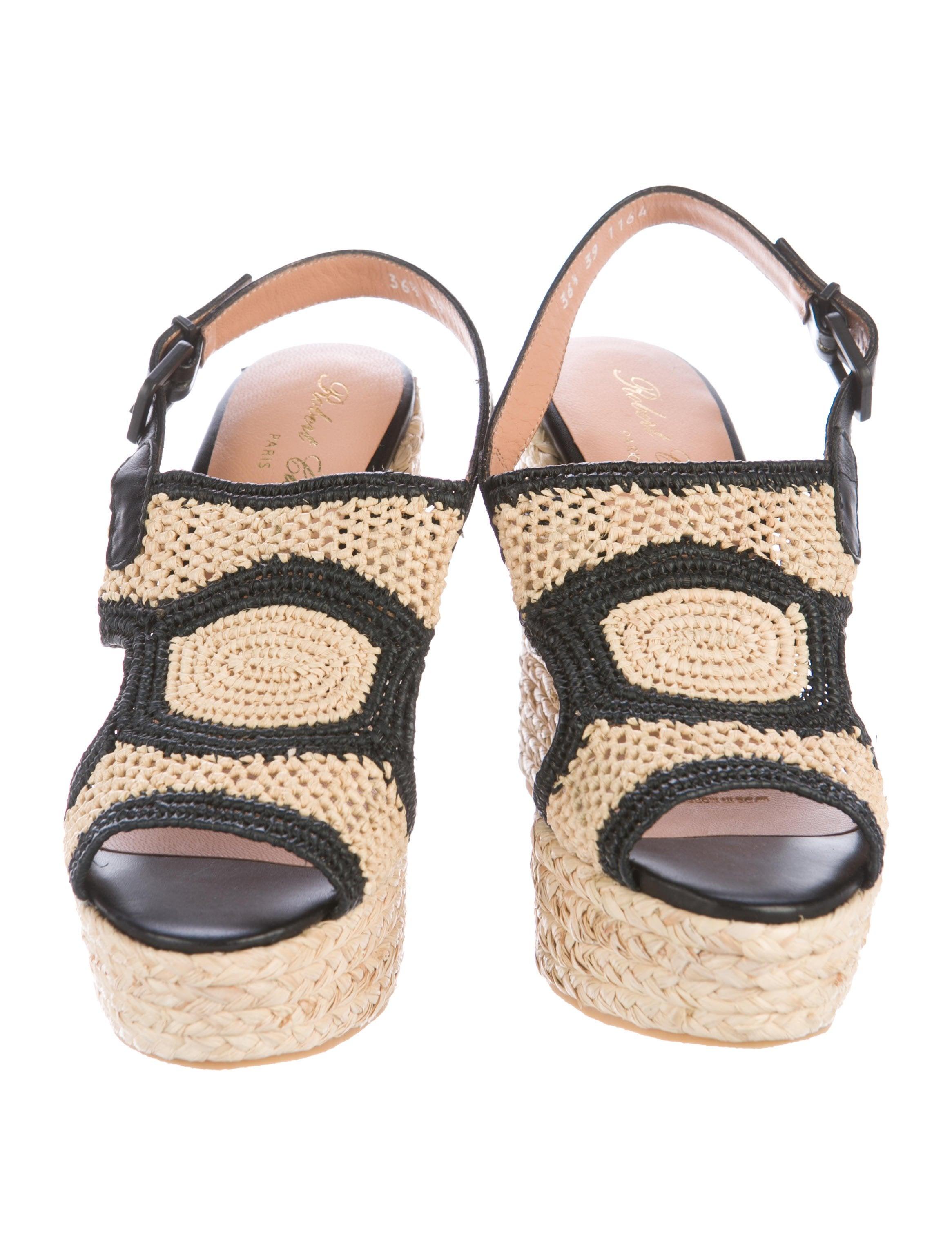Robert Clergerie Drastic Raffia Sandals w/ Tags cheap sale big sale lxE140v
