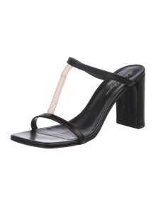 def3ced0539a Robert Clergerie. Leather Slide Sandals