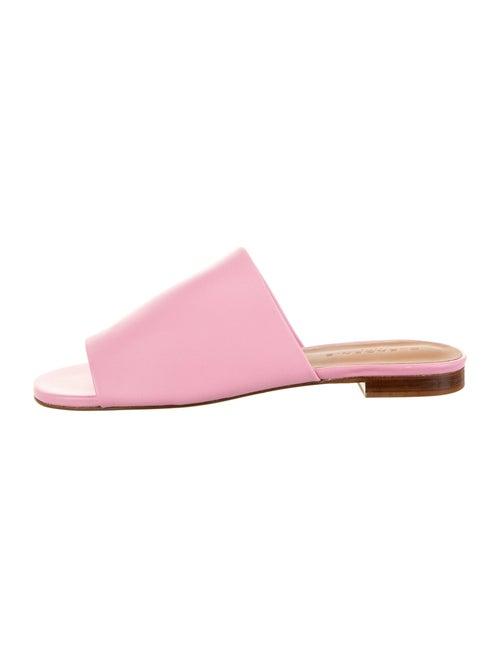 Robert Clergerie Leather Slides Pink
