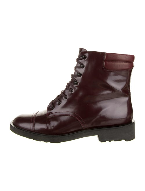 Robert Clergerie Leather Combat Boots