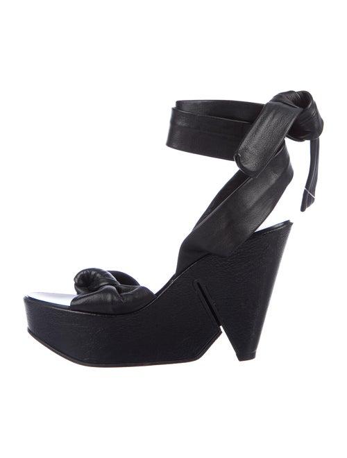 Robert Clergerie Leather Sandals Black
