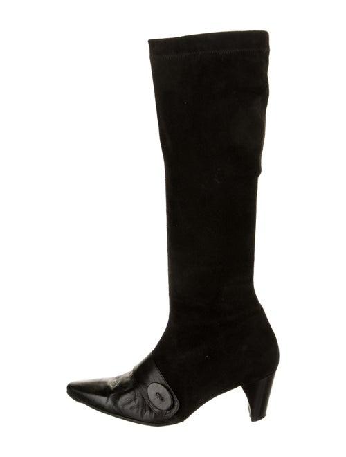 Robert Clergerie Suede Boots Black