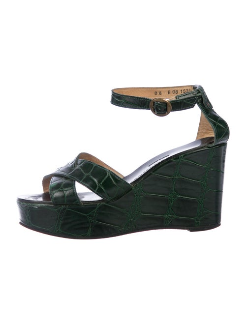Robert Clergerie Leather Sandals Green
