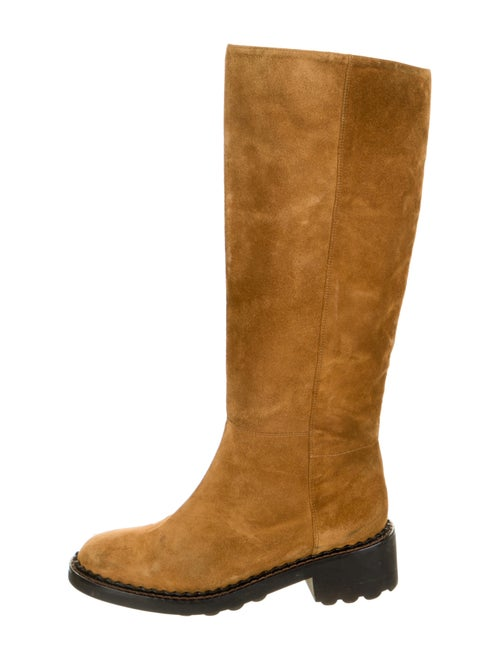 Robert Clergerie Suede Riding Boots Brown