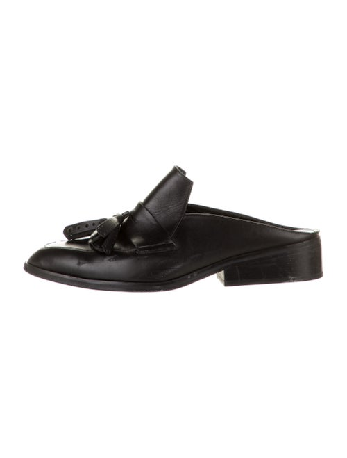 Robert Clergerie Leather Mules Black