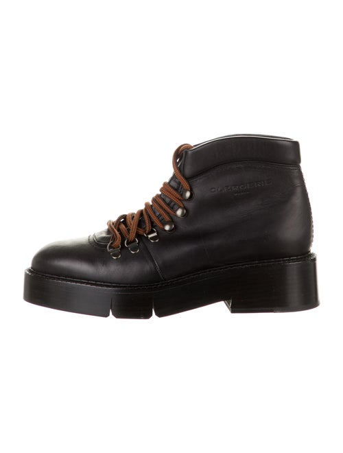 Robert Clergerie Leather Hiking Boots Black