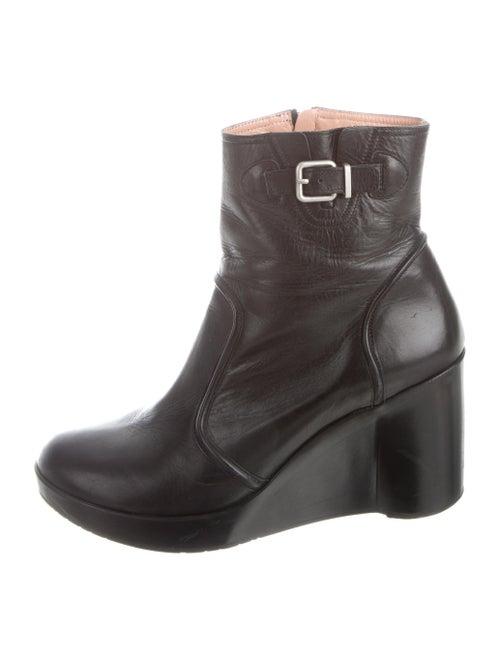 Robert Clergerie Platform Wedge Boots Black