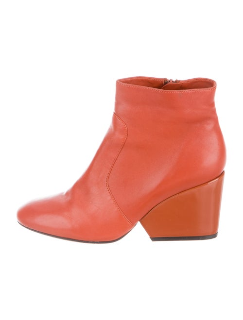 Robert Clergerie Leather Boots Orange