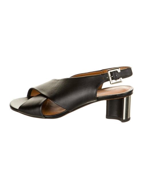 Robert Clergerie Leather Slingback Sandals Black
