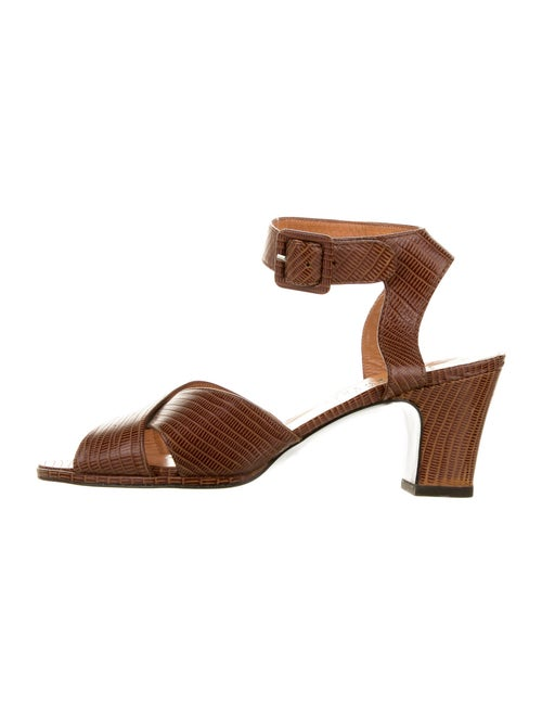 Robert Clergerie Leather Sandals Brown