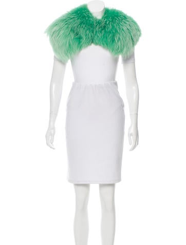 Lime Green Fur Stole