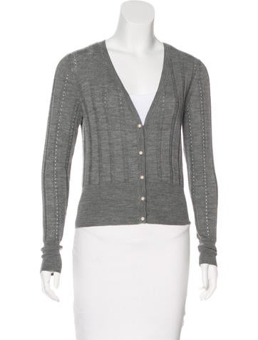 Roksanda Merino Wool Rib Knit Cardigan None