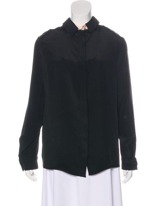 Roksanda Long Sleeve Silk Blouse Black
