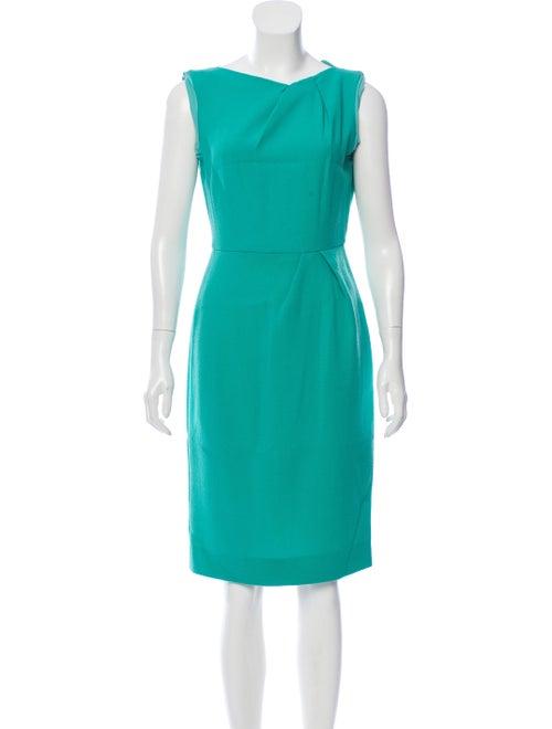 Roksanda Sleeveless Wool Dress Green