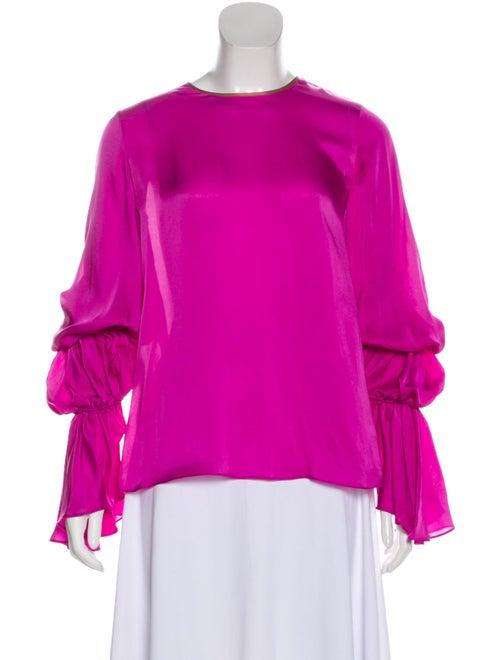 Roksanda Silk Long Sleeve Blouse Pink