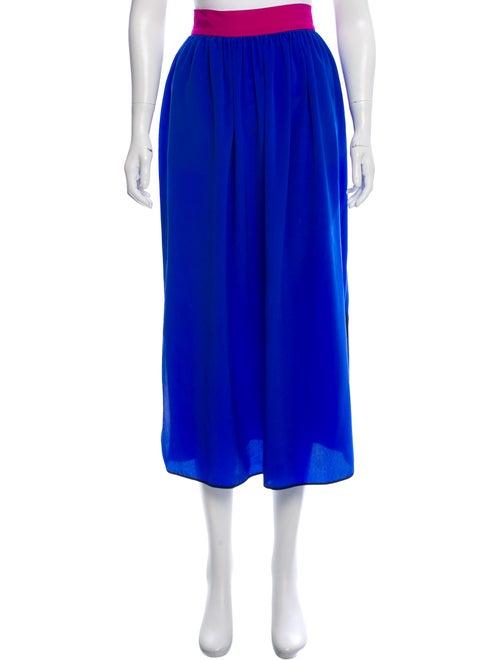 Roksanda Silk Midi Skirt Blue