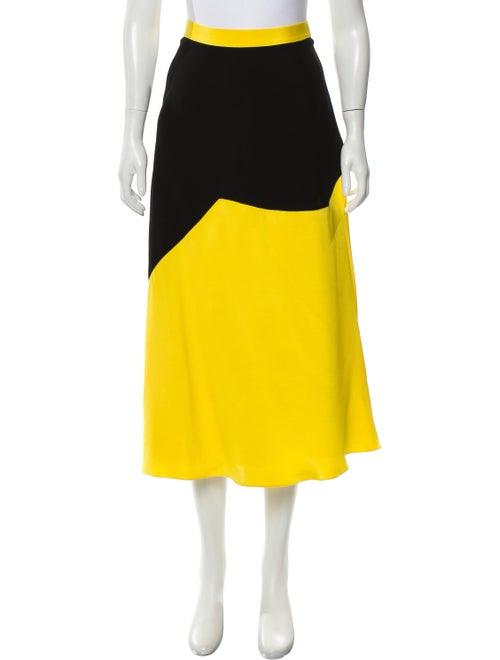 Roksanda Silk Midi Skirt Black