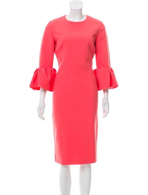 Roksanda Flared Sleeve Midi Dress Pink
