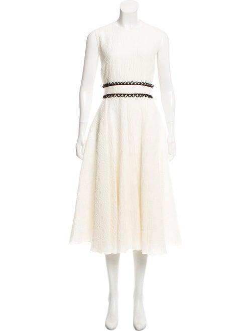 Roksanda Jacquard Sleeveless Dress black