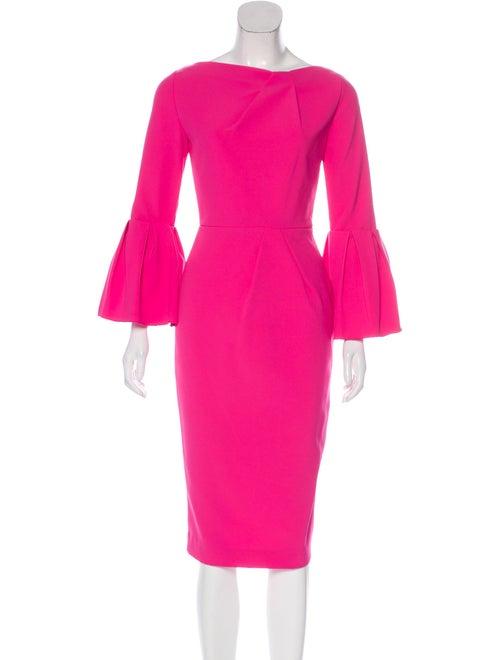 Roksanda Long Sleeve Midi Dress Fuchsia