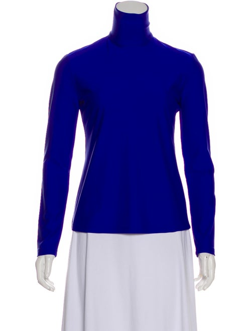 Rokh Turtleneck Long Sleeve Sweatshirt Blue