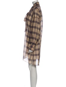 Rokh Plaid Print Mini Dress w/ Tags