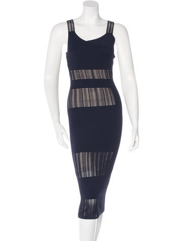 Roland Mouret Rib Knit Midi Dress