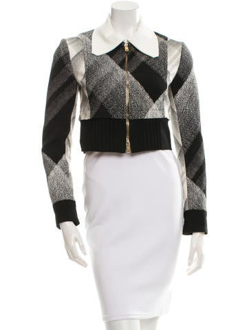 Roland Mouret Printed Zip-Up Bolero