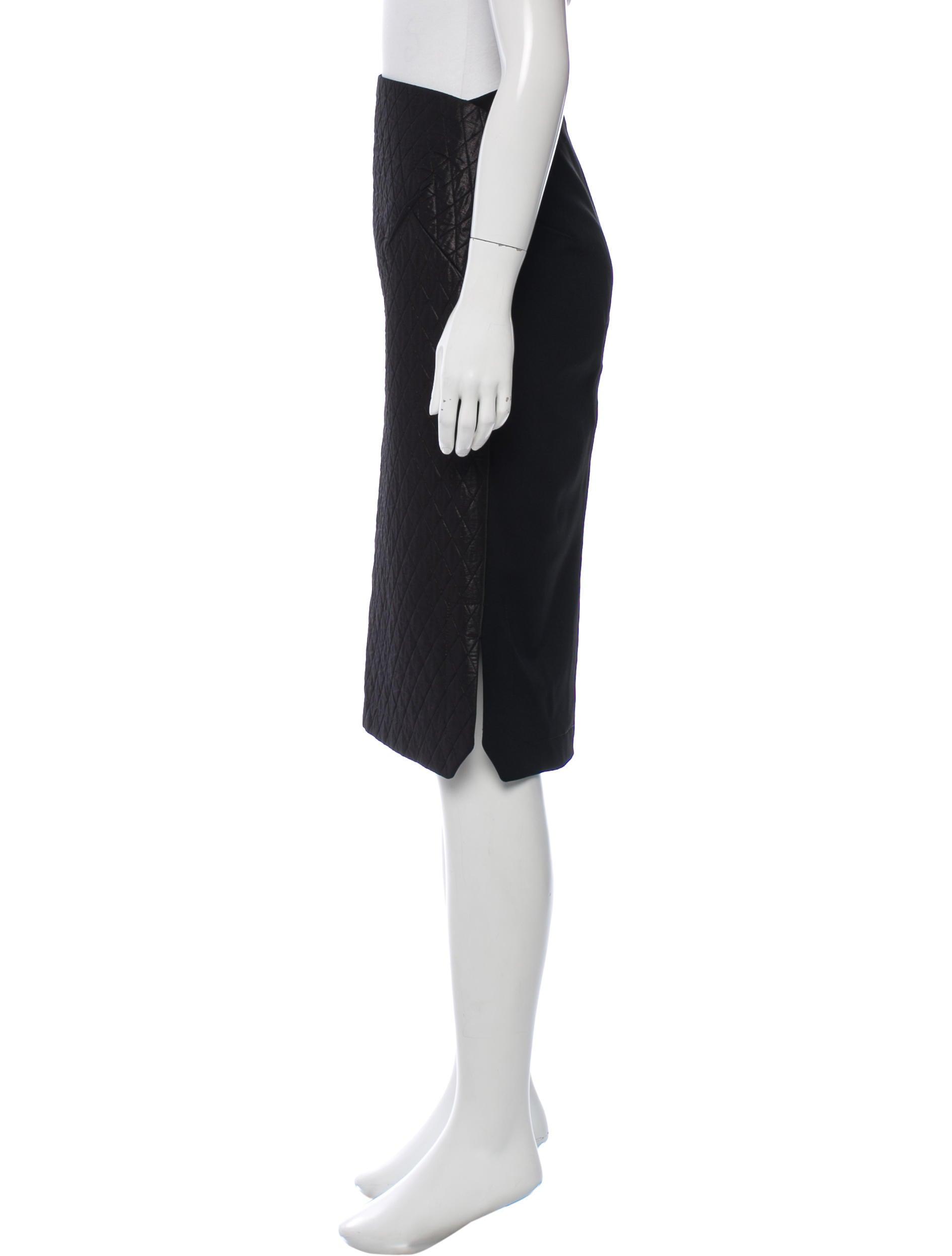 roland mouret quilted paneled midi skirt clothing