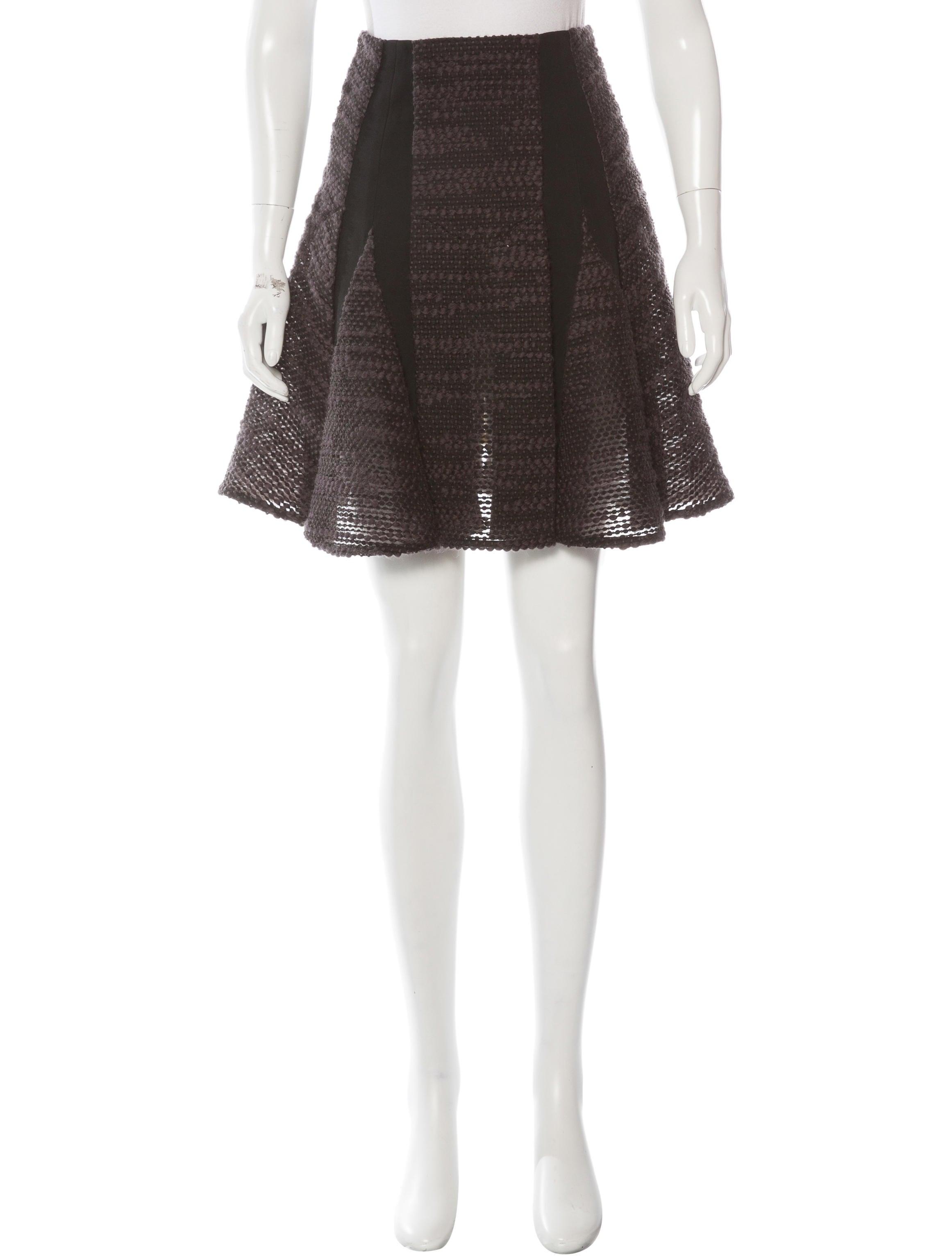 roland mouret tweed a line skirt clothing rol22688