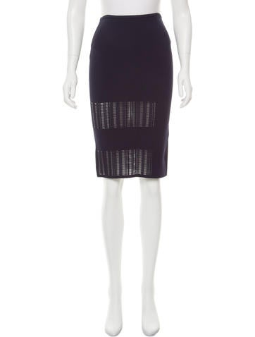 Roland Mouret Knee-Length Bodycon Skirt None