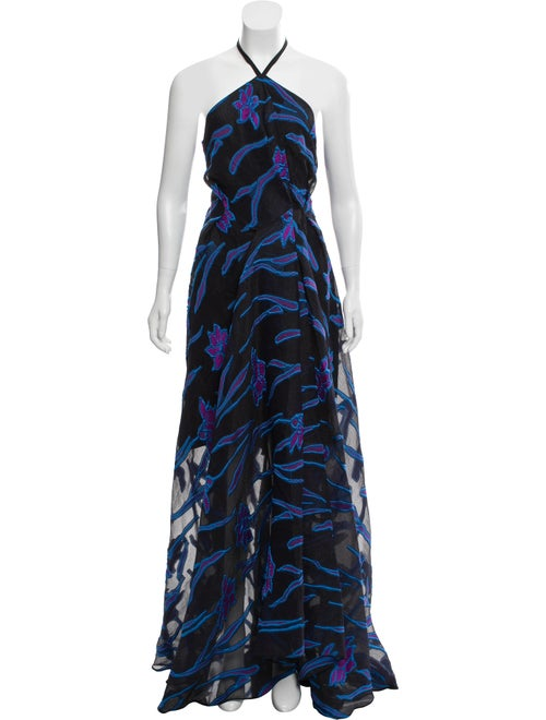 Roland Mouret Fil Coupe Maxi Dress w/ Tags Black