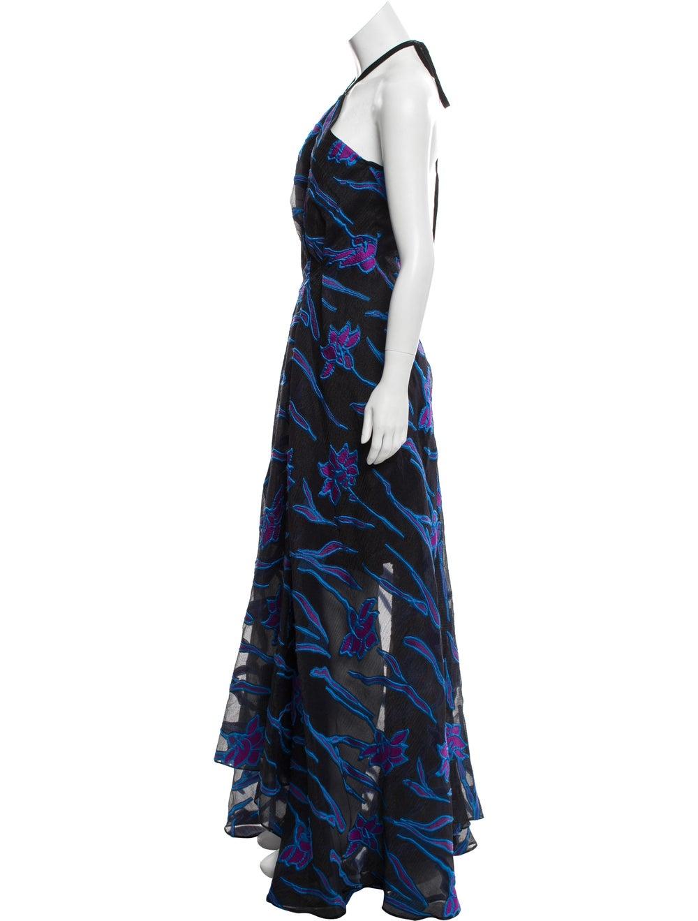 Roland Mouret Fil Coupe Maxi Dress w/ Tags Black - image 2