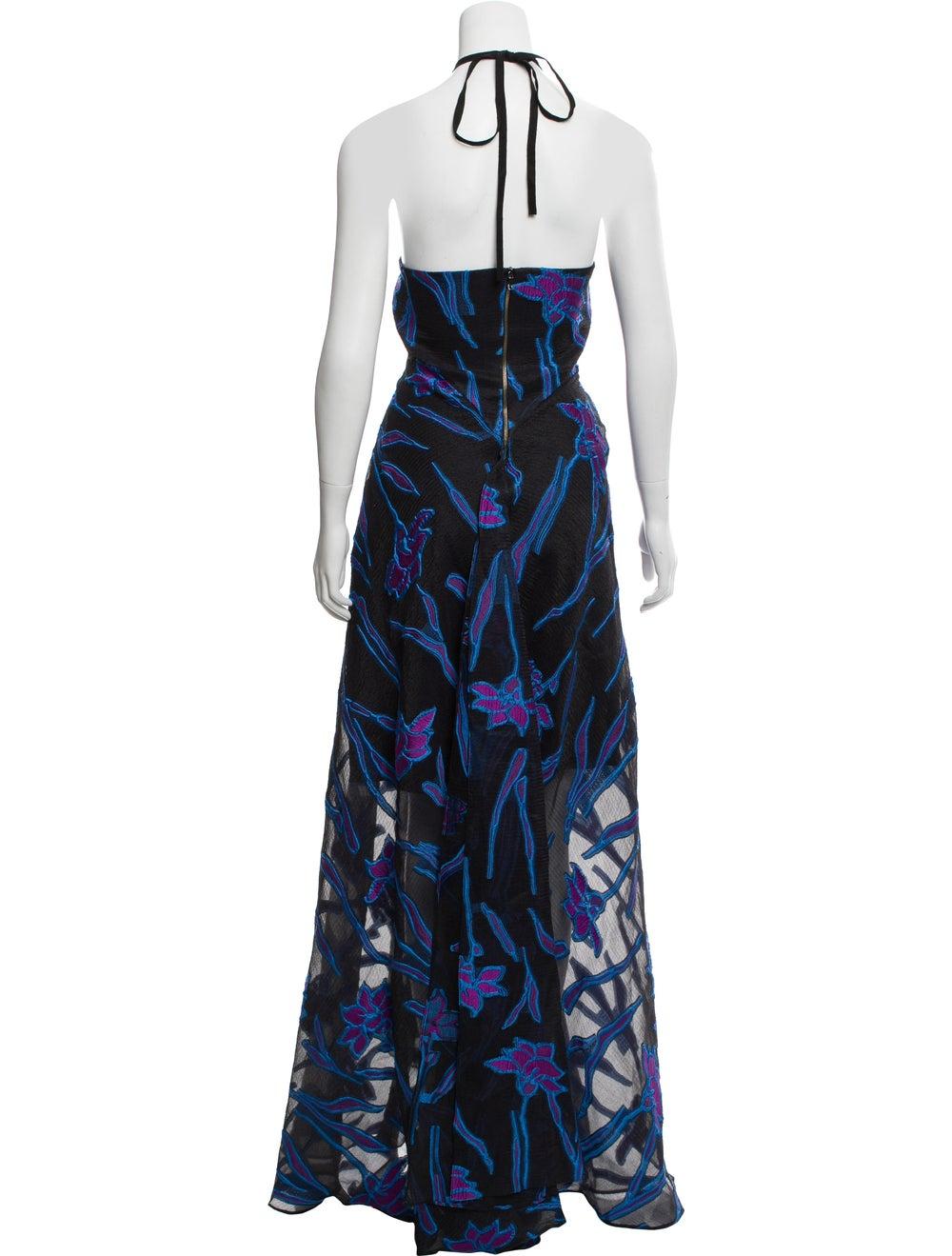 Roland Mouret Fil Coupe Maxi Dress w/ Tags Black - image 3