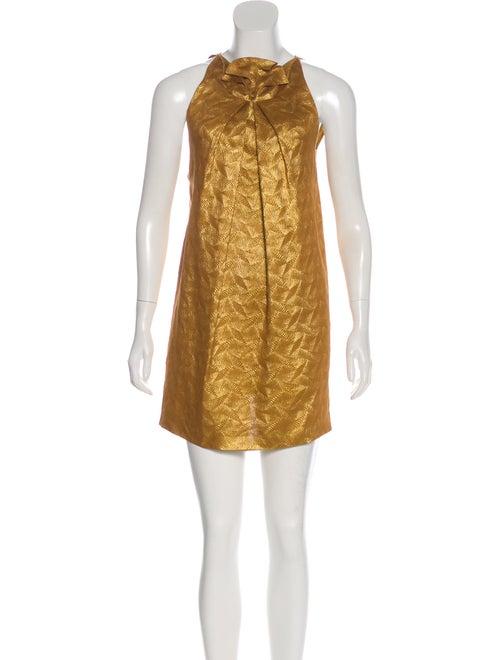 Roland Mouret Silk Metallic Dress metallic