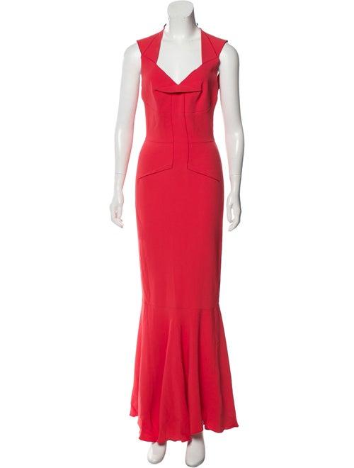 Roland Mouret Flared Sleeveless Dress Pink