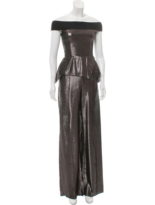 Roland Mouret Metallic Sleeveless Jumpsuit w/ Tag… - image 1