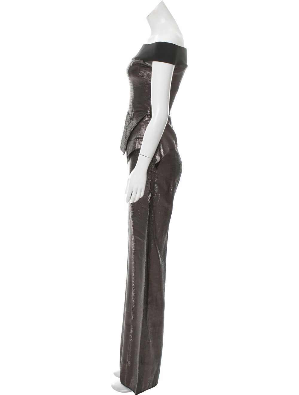 Roland Mouret Metallic Sleeveless Jumpsuit w/ Tag… - image 2