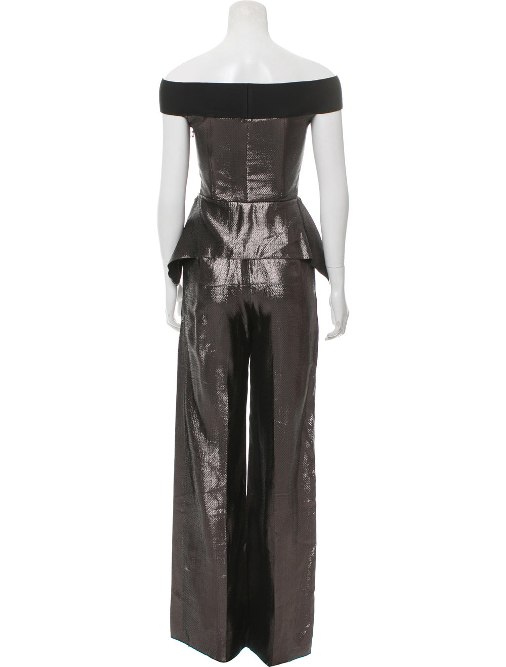 Roland Mouret Metallic Sleeveless Jumpsuit w/ Tag… - image 3