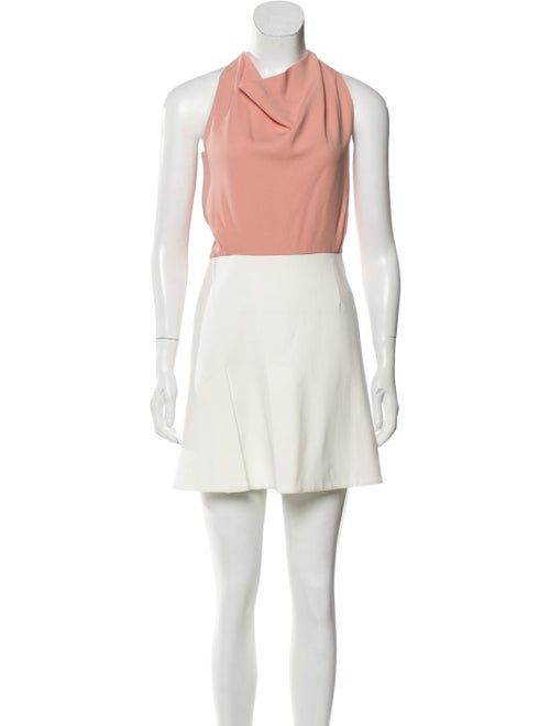 Roland Mouret Bicolor Sleeveless Dress White