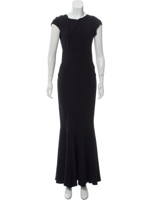 Roland Mouret Cap Sleeve Evening Dress Black