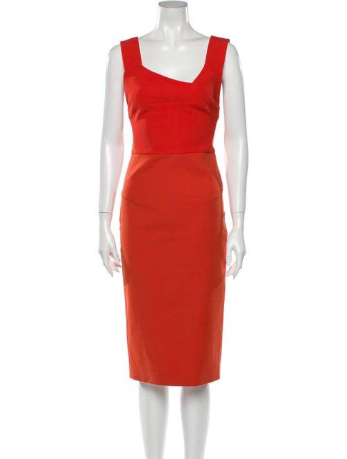 Roland Mouret Asymmetrical Knee-Length Dress Red