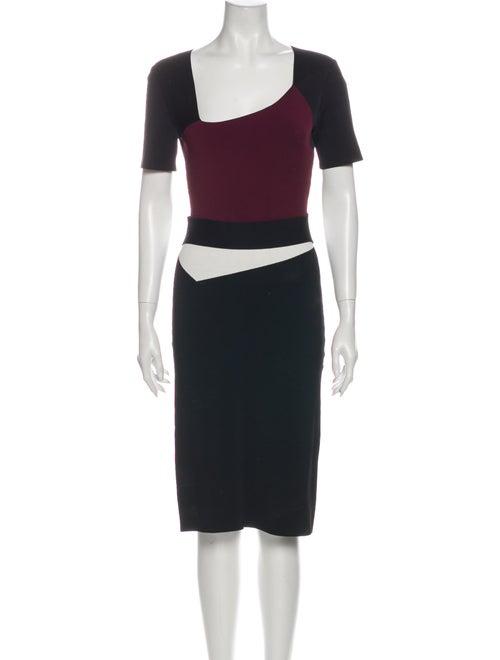 Roland Mouret Angora Knee-Length Dress Black