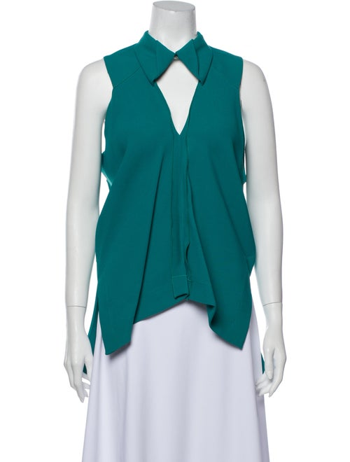 Roland Mouret Sleeveless Blouse w/ Tags Green