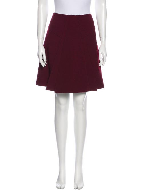 Roland Mouret Pleated Accents Knee-Length Skirt Re